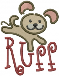 Puppy Ruff embroidery design