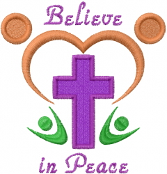 Believe In Peace embroidery design