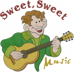 Make Sweet Music embroidery design