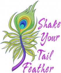 Shake Your Tail embroidery design