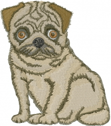 The Pug embroidery design