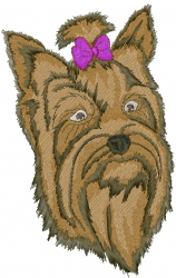 Yorkshire Terrier Head embroidery design
