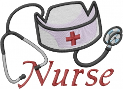 Stethoscope Super Nurse embroidery design