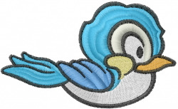 Little Bluebird embroidery design