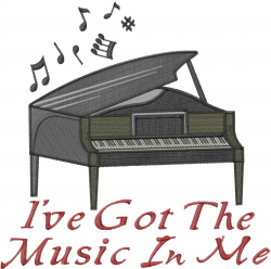 Its All About Music embroidery design