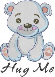 Hug Me Teddy Bear embroidery design