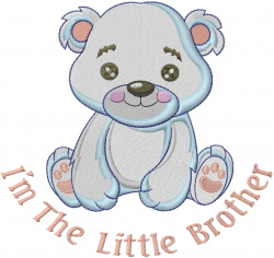 Im The Little Brother embroidery design