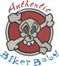 Authentic Biker embroidery design