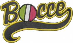 Bocce   embroidery design