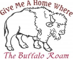 The Buffalo Roam embroidery design