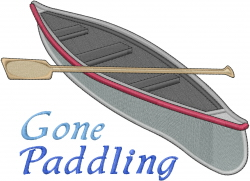 Gone Paddling embroidery design
