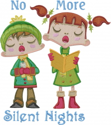 Caroling Silent Nights embroidery design
