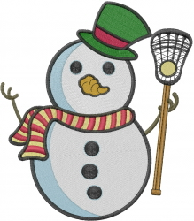 Lacrosse Snowman embroidery design