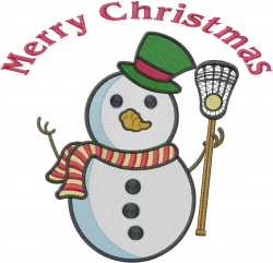 Merry Christmas Lacrosse embroidery design