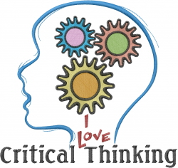 Critical Thinking embroidery design