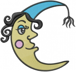 Crescent Moon Man embroidery design