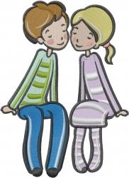Valentine Couple embroidery design