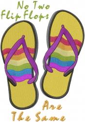 Rainbow Flip Flops embroidery design