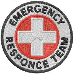 Emergency Response Team embroidery design
