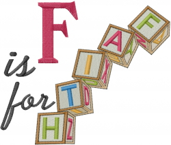 F is For Faith embroidery design