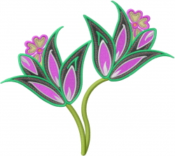 Fancy Flower embroidery design