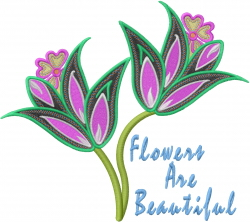 Beautiful Flowers embroidery design