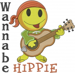 Wannabe Hippie embroidery design