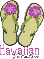 Hawaiian Vacation embroidery design