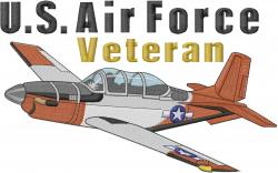 Air Force Veteran embroidery design