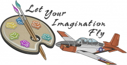Imagination Fly embroidery design