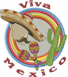 Viva Mexico embroidery design