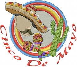 Cinco De Mayo embroidery design