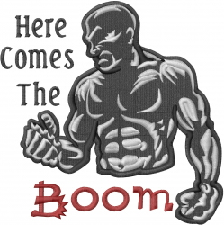 Here Comes The Boom embroidery design