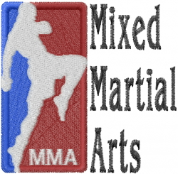 Mixed Martial Arts embroidery design