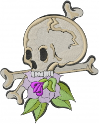 Skull And Bones embroidery design