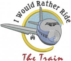Ride The Train embroidery design