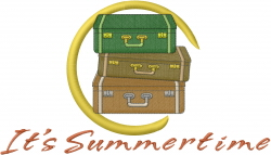 Summertime Luggage embroidery design