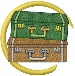 Luggage For Vacation embroidery design