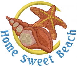 Home Sweet Beach embroidery design