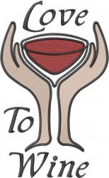 Love To Wine embroidery design