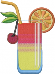 Cocktail Drink embroidery design