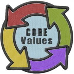 Core Values embroidery design