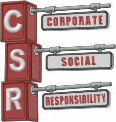 Corporate Social Responsibility embroidery design