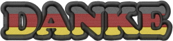 German Thank You embroidery design