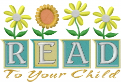 Read To Child embroidery design