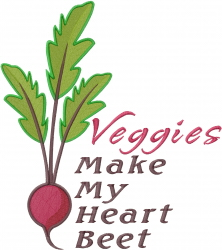 My Heart Beet embroidery design