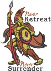 Never Surrender embroidery design