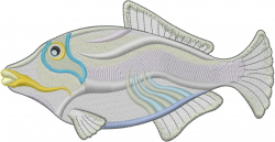 Transparent Fish embroidery design