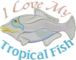 My Tropical Fish embroidery design