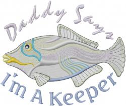 Im A Keeper embroidery design
